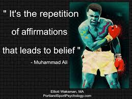 self belief - ali