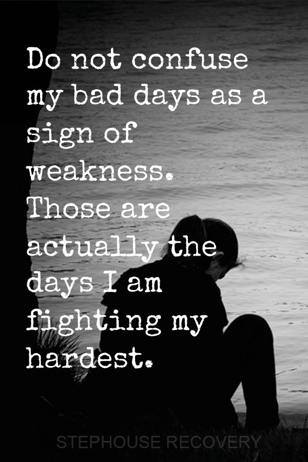 do not confuse my hard days