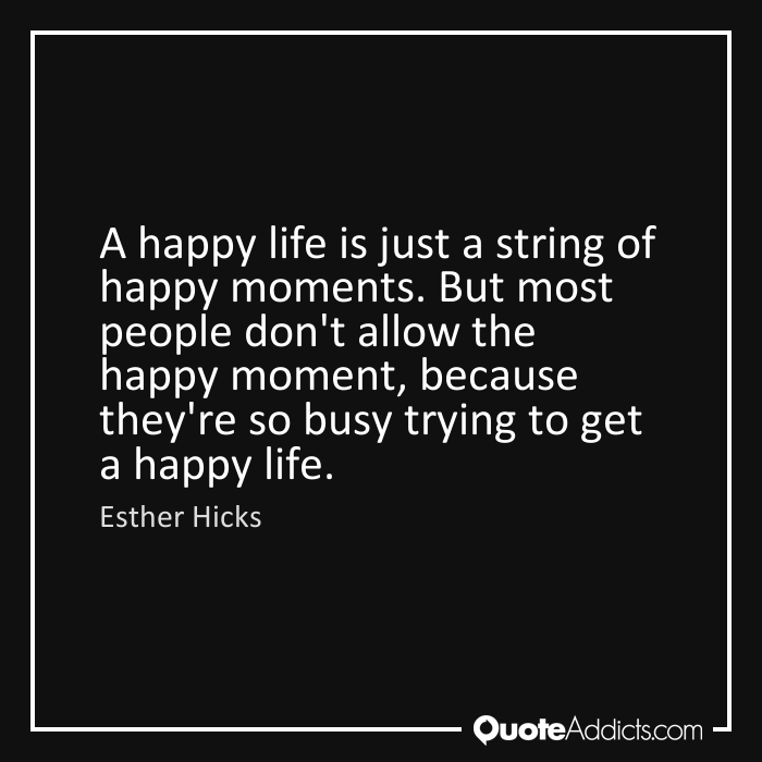 a string of happy moments