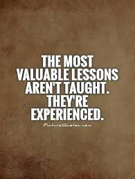 valuable lesson